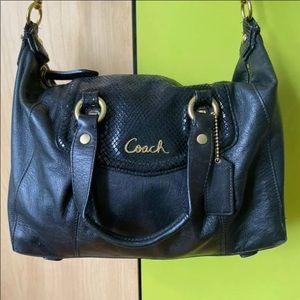 COACH Leather Satchel Shoulder Handbag